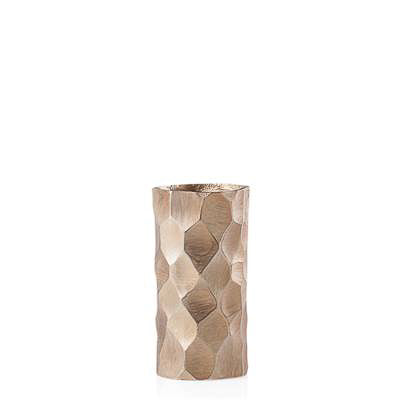 Linus Chiseled Brushed Cylinder Vase Small - Gold