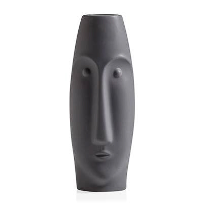 "Litho 16"" Ceramic Vase Tall - Matte Grey"