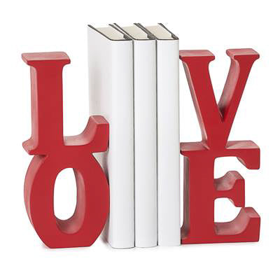 Word Art Bookends - Love
