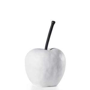 Grand Apple Oversized Resin Decor Statue - White