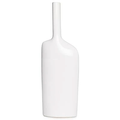 Alba Long Neck Tall Vase - White