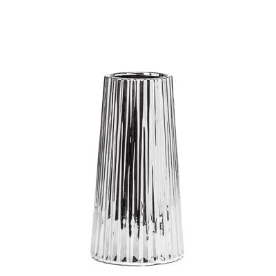 "Thena Tapered 10"" Vase - Silver"