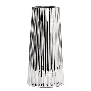 "Thena Tapered 13"" Vase - Silver"