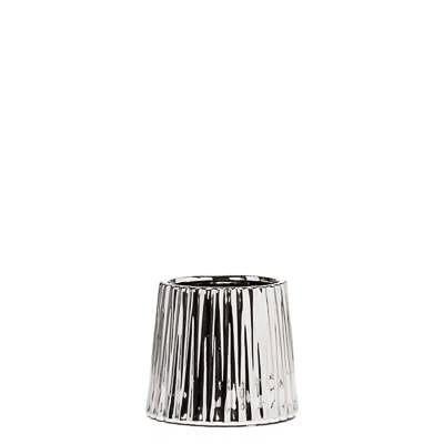 "Thena Tapered 4"" DIA Drop Pot - Silver"
