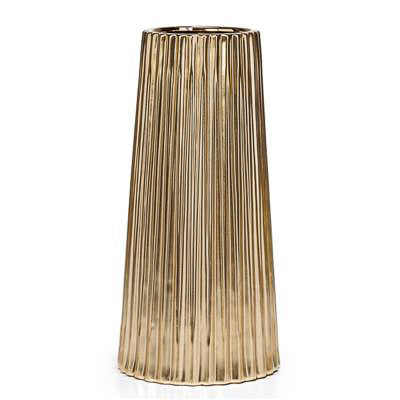 "Thena Tapered 13"" Vase - Gold"