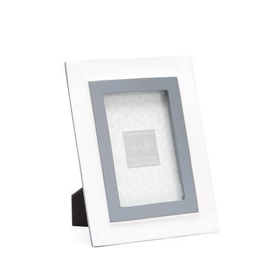 Meta Two Tone Enamel 4x6 Photo Frame