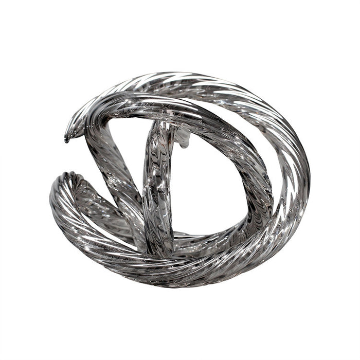 Translucent Grey Infinity Knot Table Top Décor
