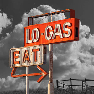 Lo Gas Eat Vintage Sign