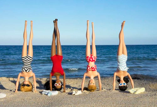 Girls Headstand