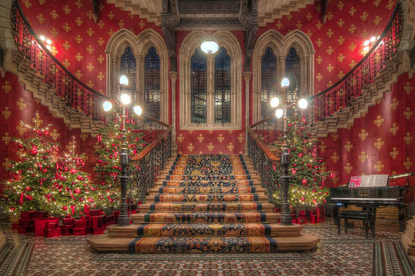 The Renaissance Staircase at Christmas