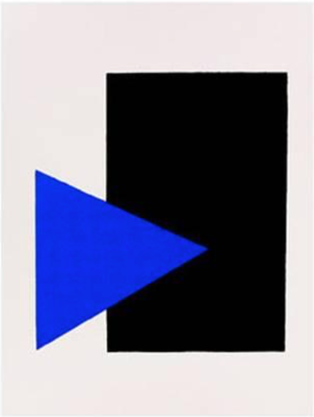 Black Rectangle, Blue Triangle, 1915