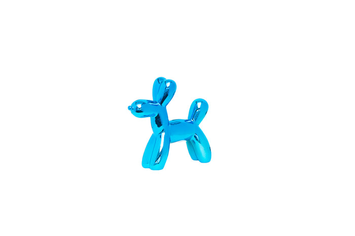 Royal Blue Balloon Dog Bank Mini