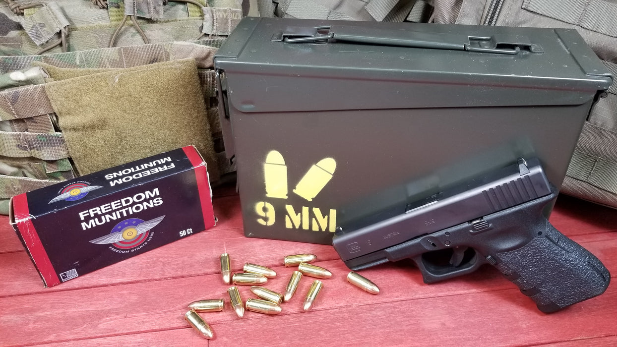 9MM Ammo Spray Paint Stencil