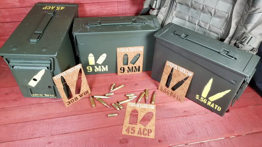 Ammo Can Spray Paint Stencils SHOOTER'S SET