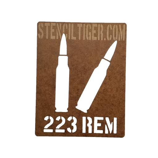 223 Remington Ammo Spray Paint Stencil