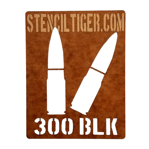300 Blackout Ammo Spray Paint Stencil