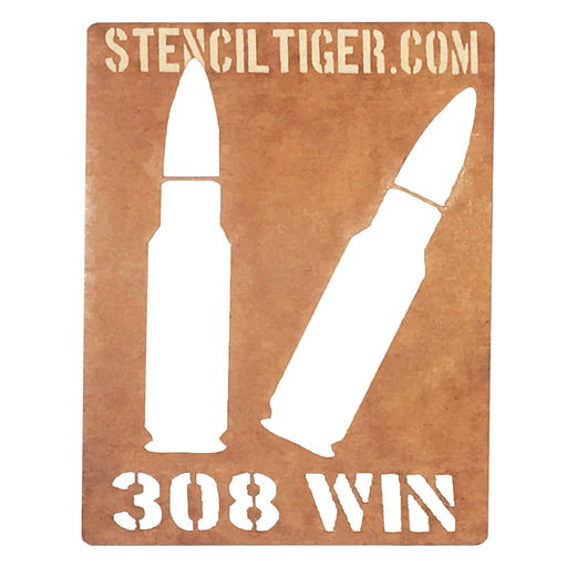 .308 Winchester Ammo Spray Paint Stencil