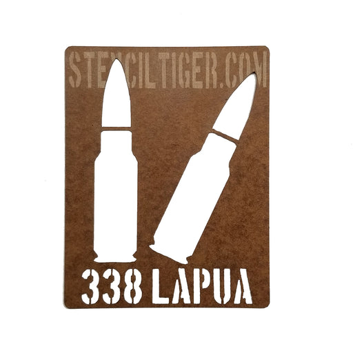 338 Lapua Ammo Spray Paint Stencil