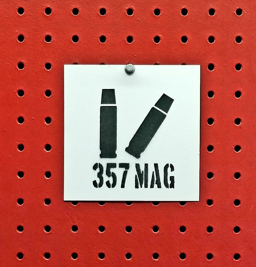 357 Magnum Ammo Spray Paint Stencil