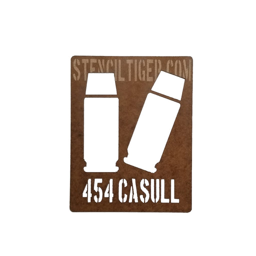 454 Casull Ammo Spray Paint Stencil