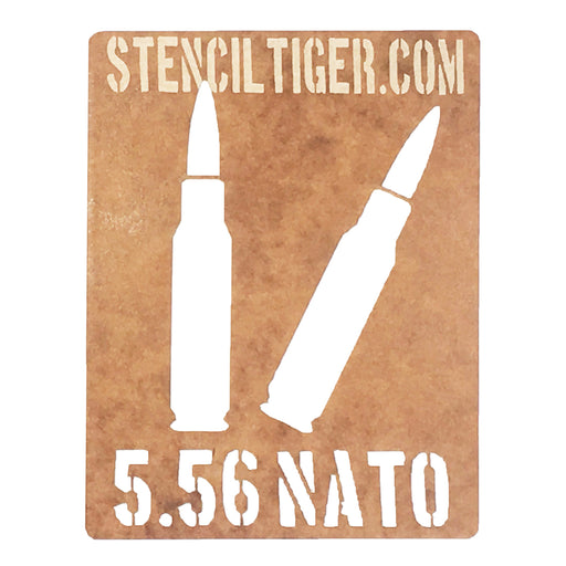 5.56 NATO Ammo Spray Paint Stencil