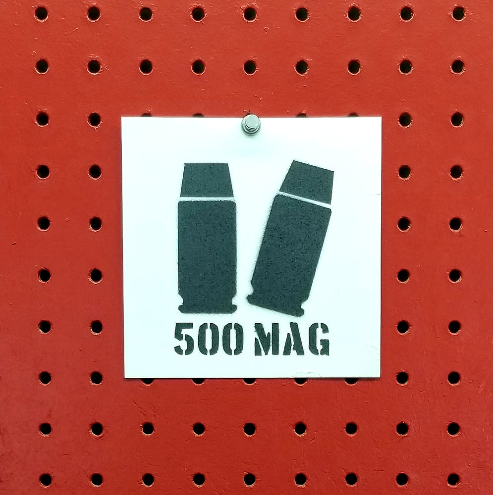500 S&W Magnum Ammo Spray Paint Stencil