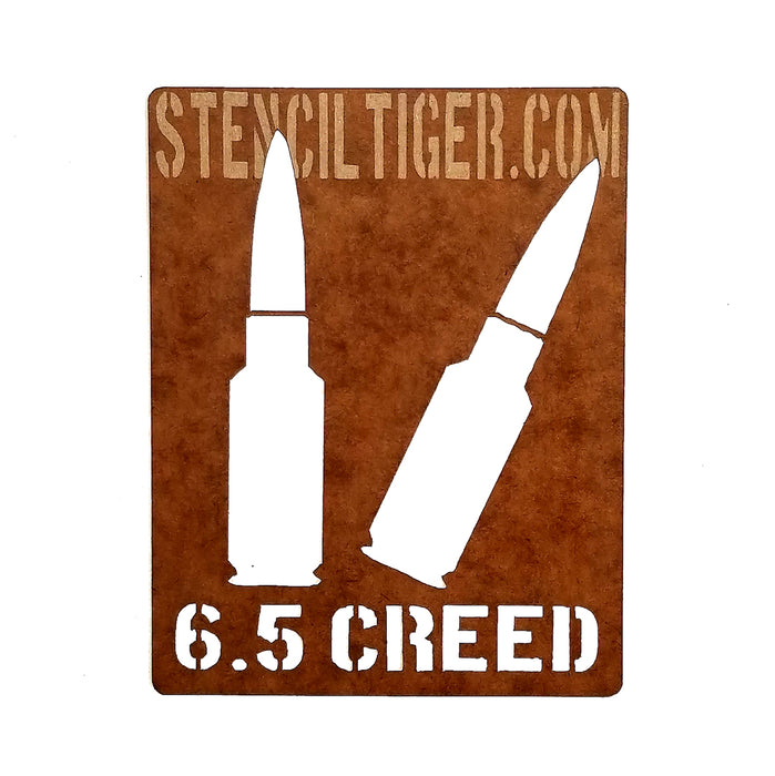 6.5 Creedmoor Ammo Spray Paint Stencil