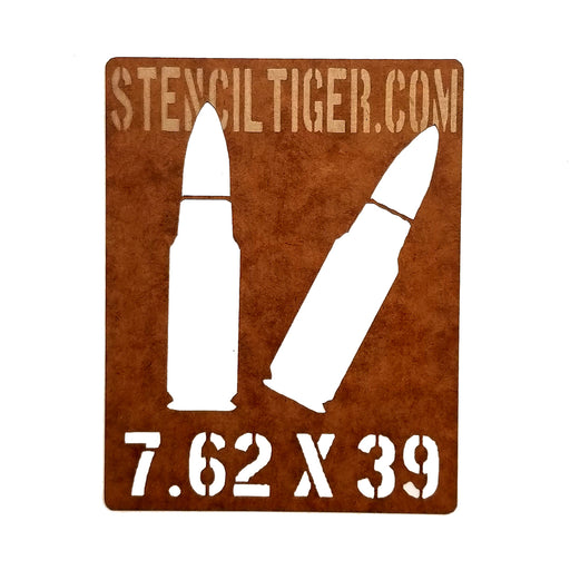 7.62X39 Ammo Spray Paint Stencil