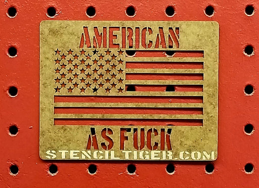 American As Fuck American Flag Spray Paint Stencil