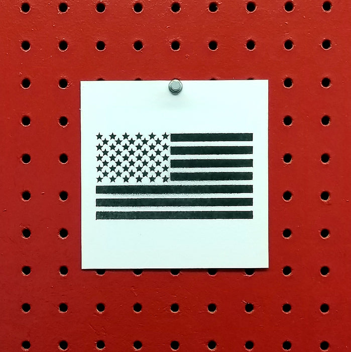 American Flag Spray Paint Stencil