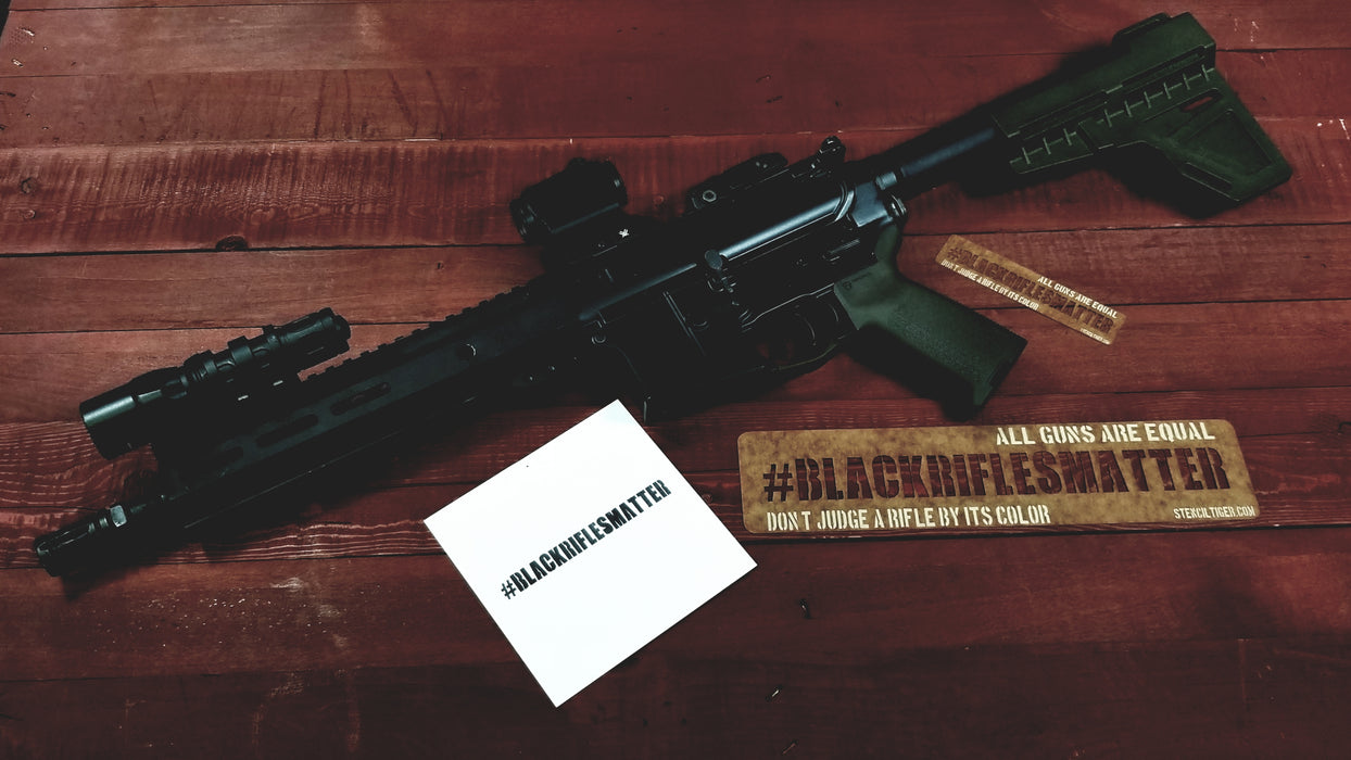 #BLACKRIFLESMATTER Spray Paint Stencil