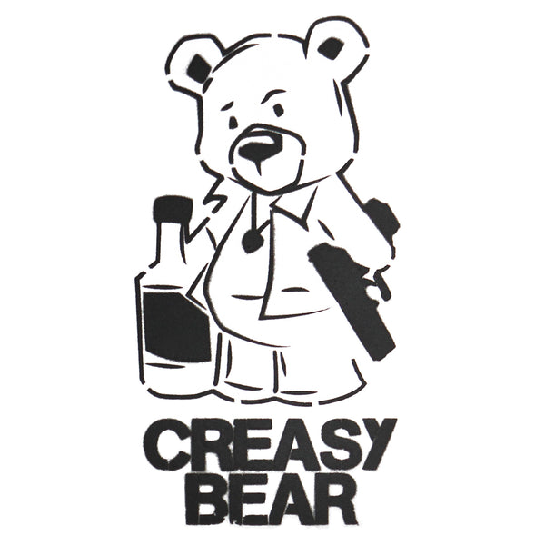 Creasy Bear Spray Paint Stencil