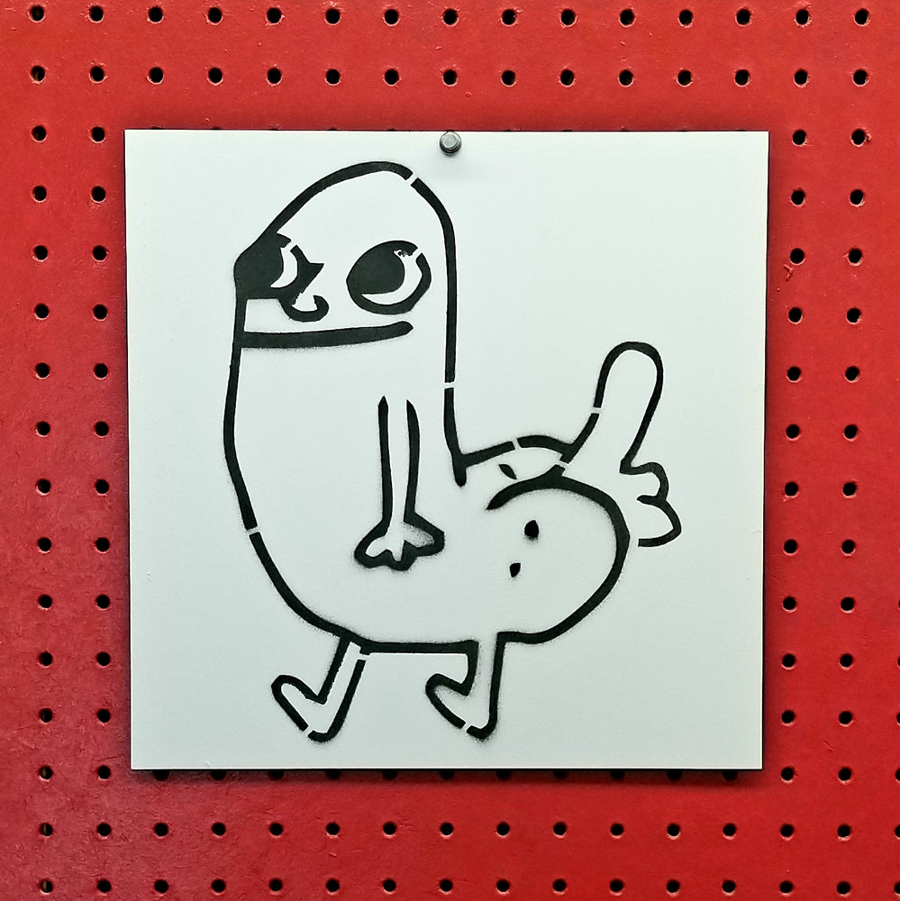 Dickbutt Spray Paint Stencil