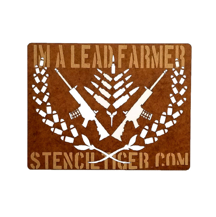 I'm A Lead Farmer Tropic Thunder Spray Paint Stencil