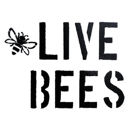 Live Bees Spray Paint Stencil