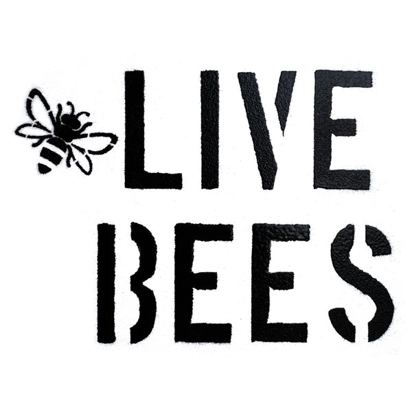 """Live Bees"" Spray Paint Stencil"