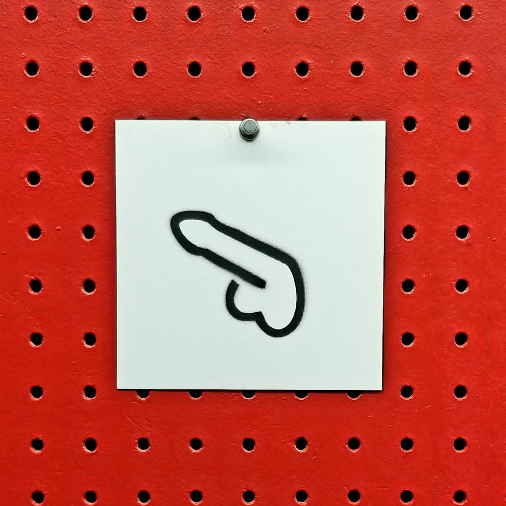 Micro Dick Spray Paint Stencil