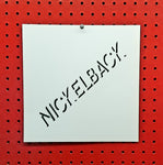 Nickelback Spray Paint Stencil