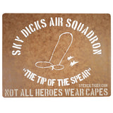 Sky Dicks Air Squadron Spray Paint Stencil