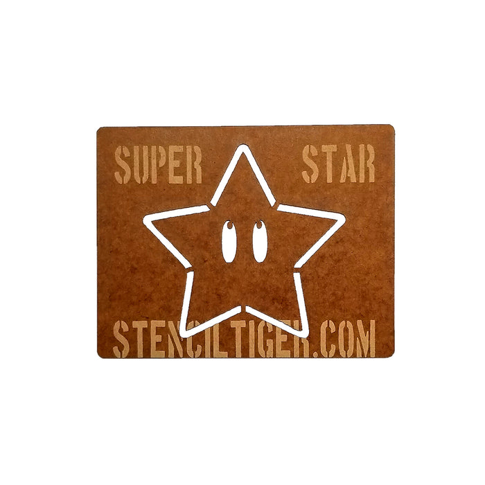 Super Star Super Mario Spray Paint Stencil