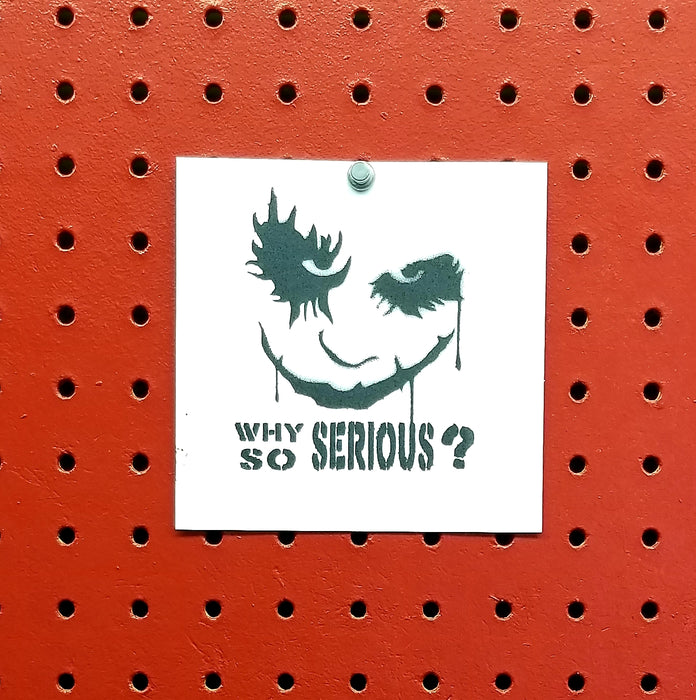 The Joker Why So Serious Dark Knight Spray Paint Stencil