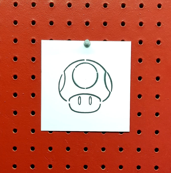 Toad Super Mario Spray Paint Stencil