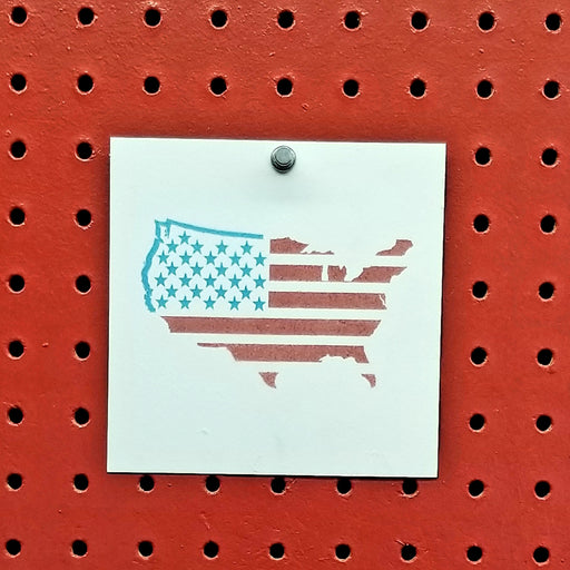US Map American Flag Spray Paint Stencil
