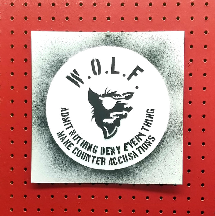 Warrant Officer Liberation Front WOLF Spray Paint Stencil