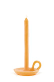 Tallow candle deep ochre by Ontwerpduo