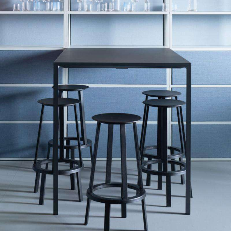 Revolver Bar stool H 76 black