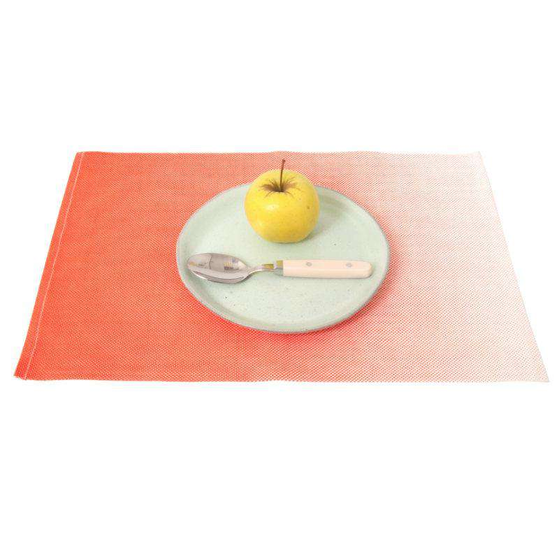 Present Time placemat ombre neon orange