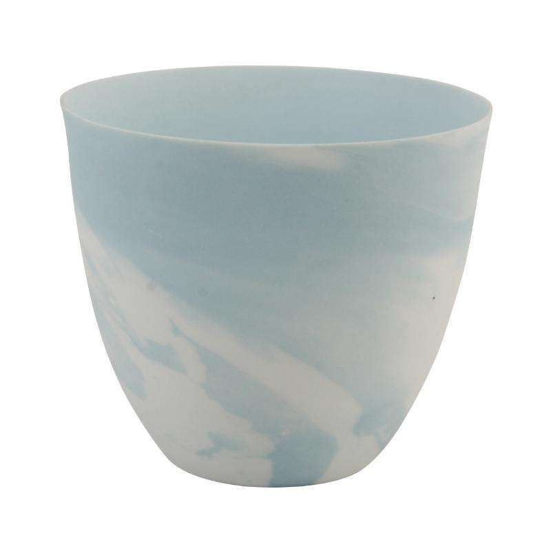 &klevering tea light holder marble print large blue