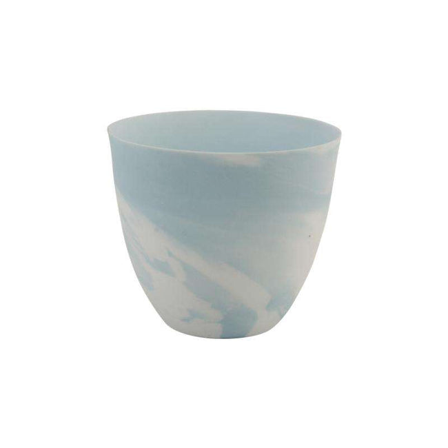 &klevering tea light holder marble print small blue