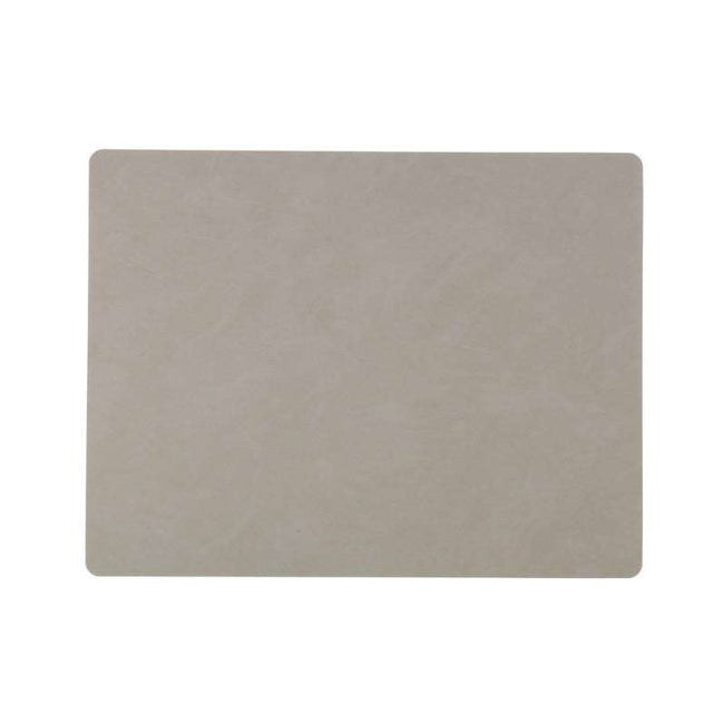 Linddna placemat rectangular light grey leather nupo